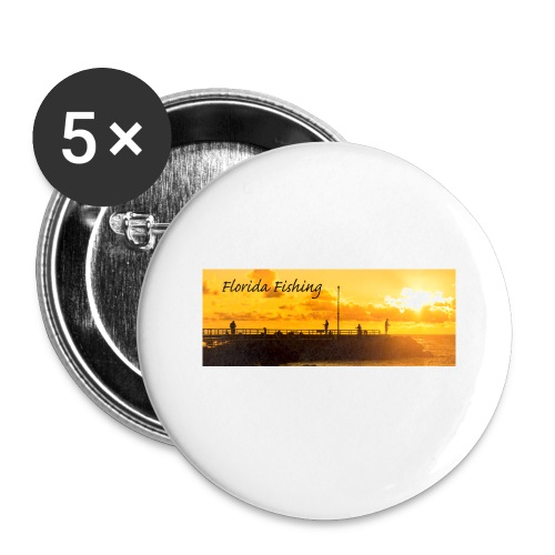 Florida Fishing Mug - Buttons small 1'' (5-pack)