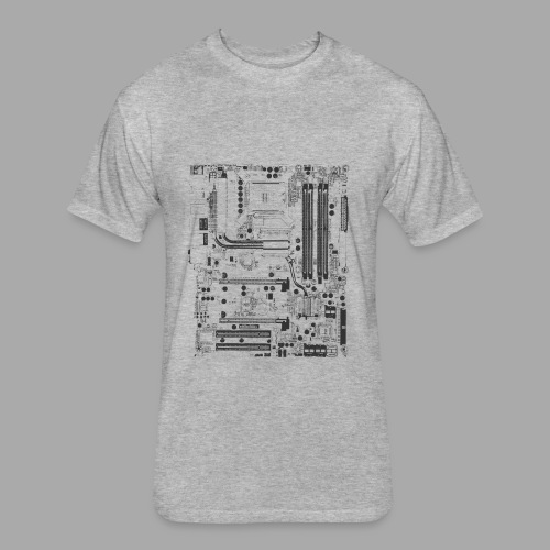 Carte mère - Fitted Cotton/Poly T-Shirt by Next Level