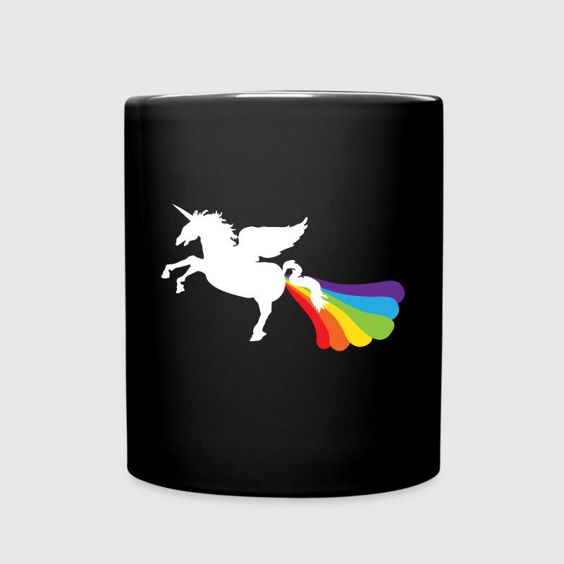 Pegacorn Winged Unicorn Rainbow LGBT Mugs & Drinkware - Full Color Mug