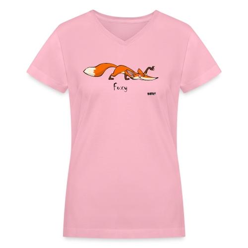 Woman's Foxy - Women's V-Neck T-Shirt