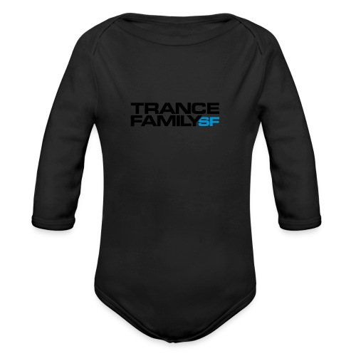Snap-back Baseball Cap (black font) - Organic Long Sleeve Baby Bodysuit