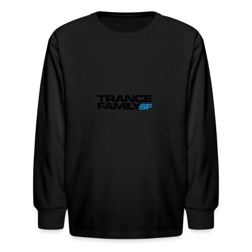 Snap-back Baseball Cap (black font) - Kids' Long Sleeve T-Shirt