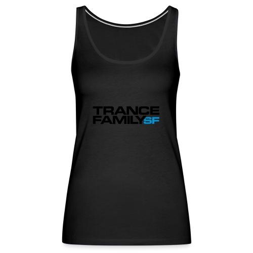 Snap-back Baseball Cap (black font) - Women's Premium Tank Top