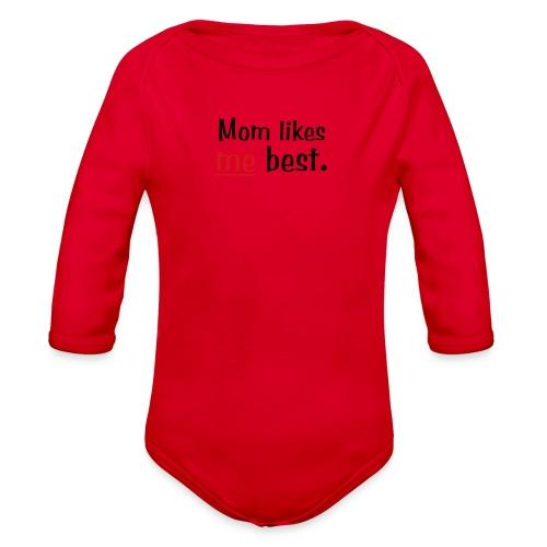 Mom Like me Best - Organic Long Sleeve Baby Bodysuit