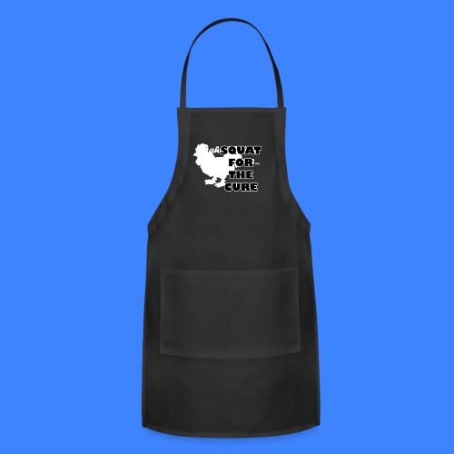 Squat For The Cure - Black (male) - Adjustable Apron