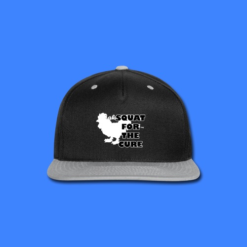 Squat For The Cure - Black (male) - Snap-back Baseball Cap