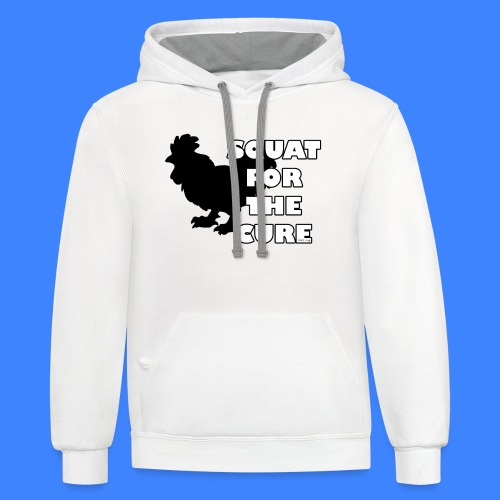 Squat For The Cure (male) - Contrast Hoodie
