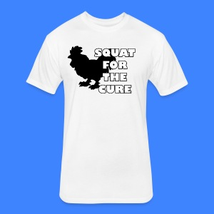Squat For The Cure (male) - Fitted Cotton/Poly T-Shirt by Next Level