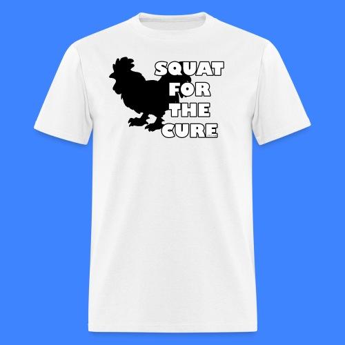 Squat For The Cure (male) - Men's T-Shirt
