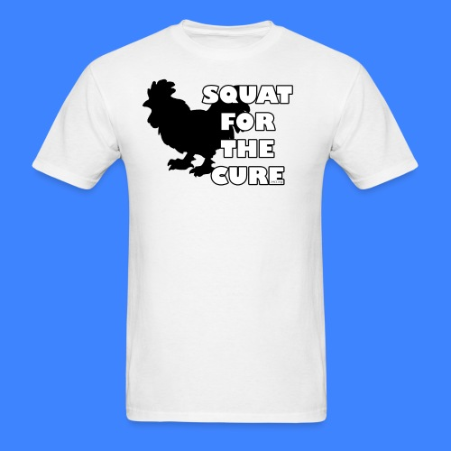 Squat For The Cure (male) - Men's T-Shirt