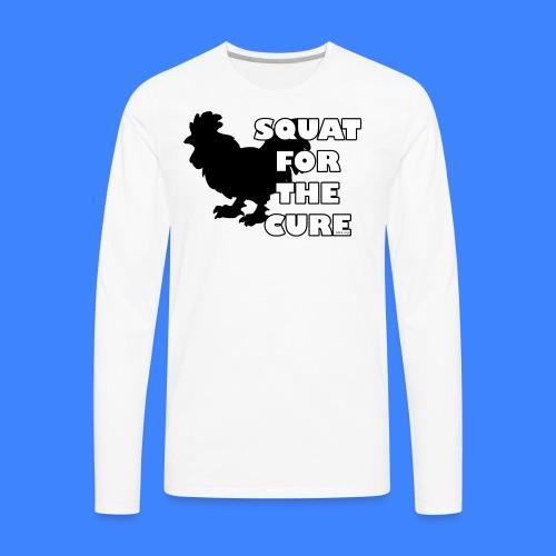 Squat For The Cure (male) - Men's Premium Long Sleeve T-Shirt