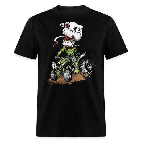 ATV Crazy Skully Kawasaki - Men's T-Shirt