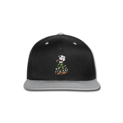 ATV Crazy Skully Kawasaki - Snap-back Baseball Cap