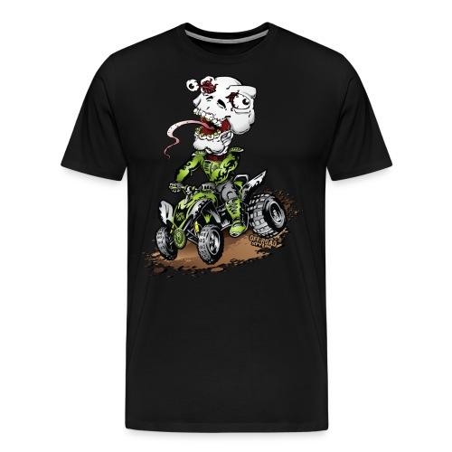 ATV Crazy Skully Kawasaki - Men's Premium T-Shirt