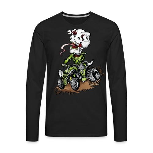 ATV Crazy Skully Kawasaki - Men's Premium Long Sleeve T-Shirt