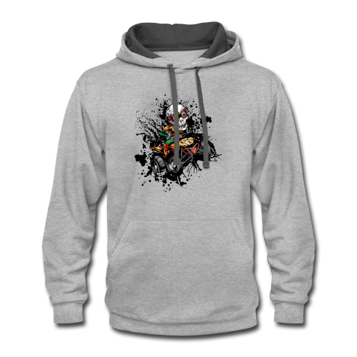 ATV Skully Splatter Sml - Contrast Hoodie