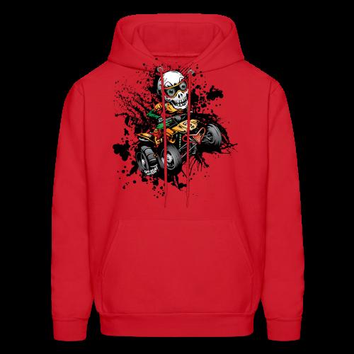 ATV Skully Splatter Sml - Men's Hoodie