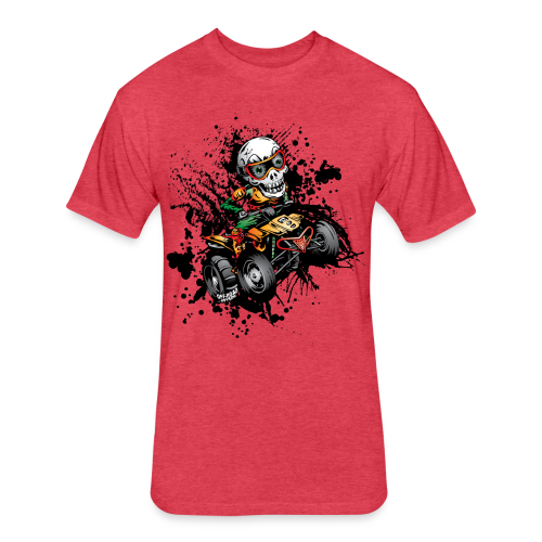 ATV Skully Splatter Sml - Fitted Cotton/Poly T-Shirt by Next Level