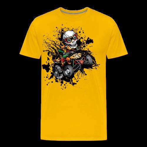 ATV Skully Splatter Sml - Men's Premium T-Shirt
