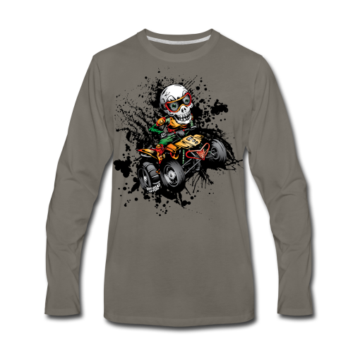 ATV Skully Splatter Sml - Men's Premium Long Sleeve T-Shirt