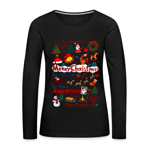 merry christmas - Women's Premium Long Sleeve T-Shirt