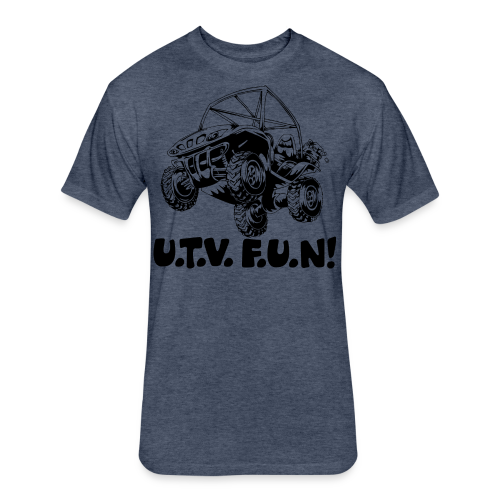 UTV fun jump - Fitted Cotton/Poly T-Shirt by Next Level