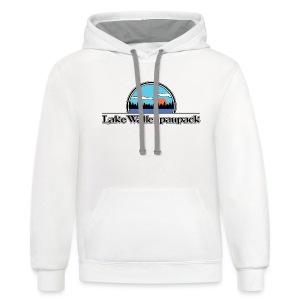 Lake Wallenpaupack Retro Summer Camp Shirt - Contrast Hoodie