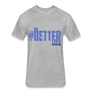 #ImBetterLive Men's LongSleeve - Fitted Cotton/Poly T-Shirt by Next Level