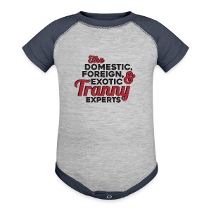 Tranny Expert American Apparel Tee - Baby Contrast One Piece