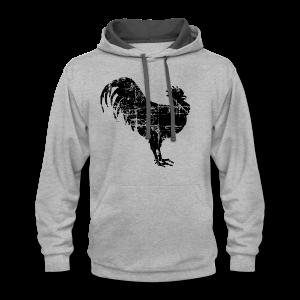 Rooster Premium T-Shirt - Contrast Hoodie