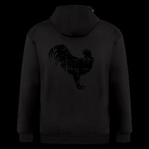 Rooster Premium T-Shirt - Men's Zip Hoodie