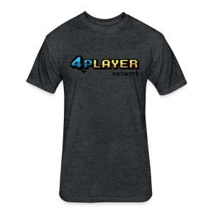 4PlayerNetwork Logo T-Shirt - Fitted Cotton/Poly T-Shirt by Next Level