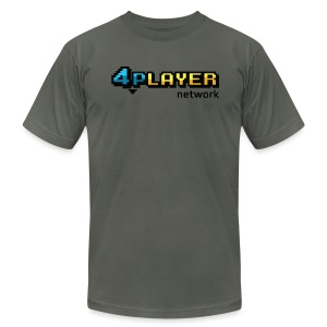 4PlayerNetwork Logo T-Shirt - Men's T-Shirt by American Apparel