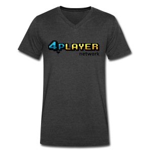 4PlayerNetwork Logo T-Shirt - Men's V-Neck T-Shirt by Canvas