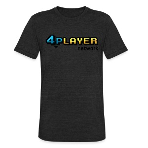 4PlayerNetwork Logo T-Shirt - Unisex Tri-Blend T-Shirt by American Apparel