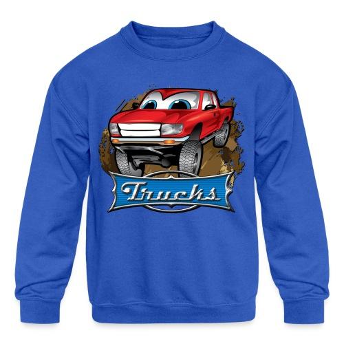 Trucks Movie Cartoon Shirt - Kids' Crewneck Sweatshirt