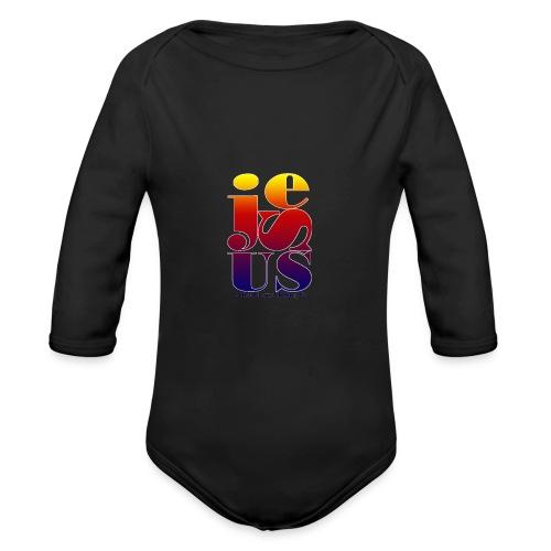Jesus Printed   - Organic Long Sleeve Baby Bodysuit