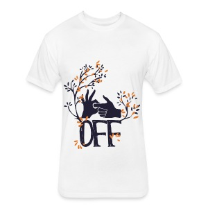 F*CK OFF - Fitted Cotton/Poly T-Shirt by Next Level