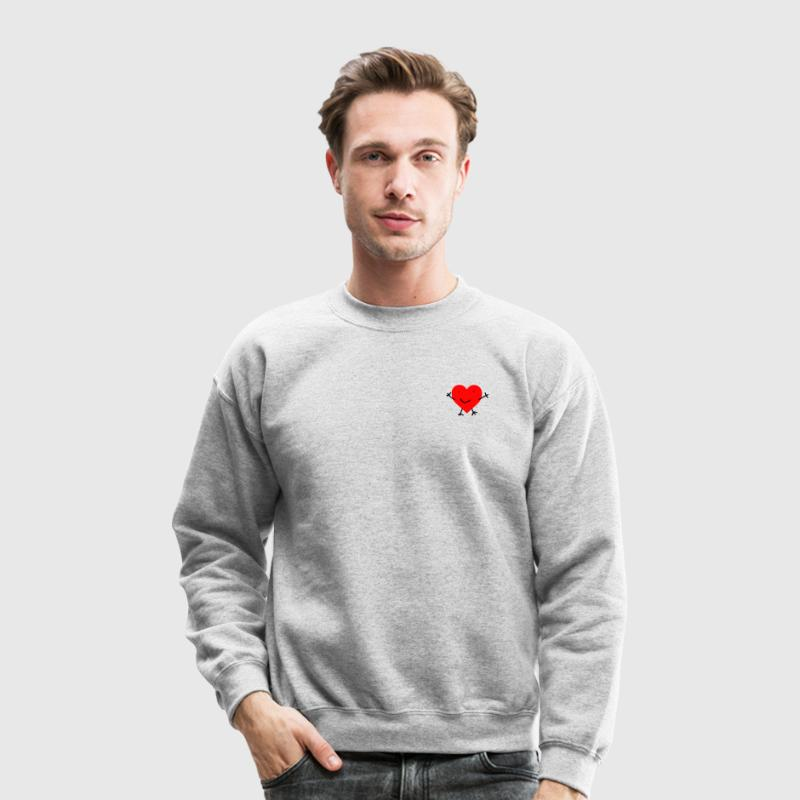 Happy Heart Long Sleeve Shirts - Crewneck Sweatshirt