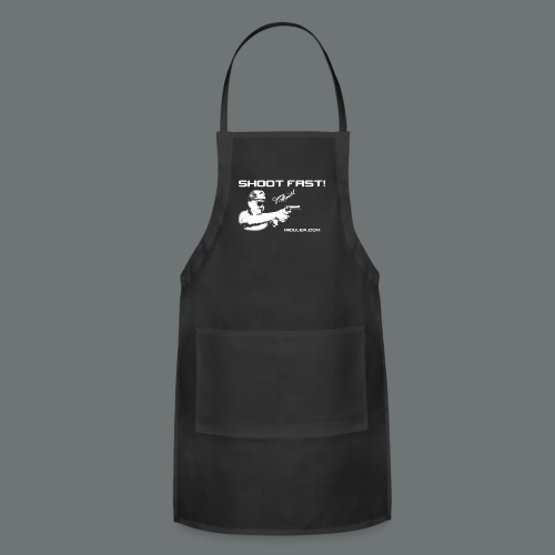 Shoot Fast! Jerry Miculek signature T-Shirt - Adjustable Apron