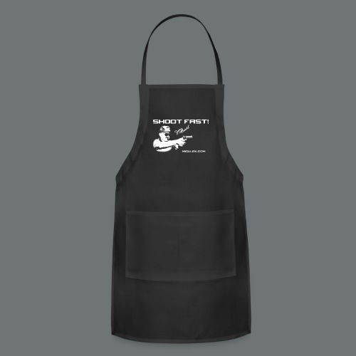 Shoot Fast! Jerry Miculek signature T-Shirt - Adjustable Apron