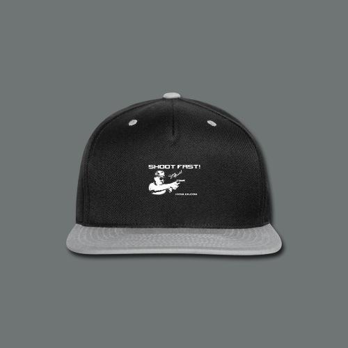 Shoot Fast! Jerry Miculek signature T-Shirt - Snap-back Baseball Cap