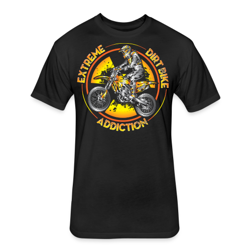 Extreme Motocross Sports - Fitted Cotton/Poly T-Shirt by Next Level