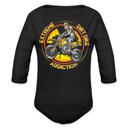 Extreme Motocross Sports - Organic Long Sleeve Baby Bodysuit
