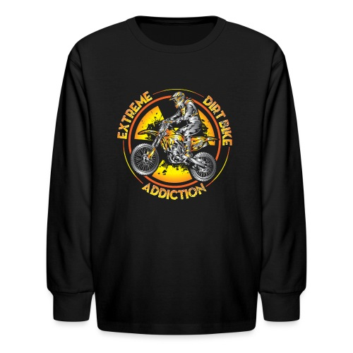Extreme Motocross Sports - Kids' Long Sleeve T-Shirt