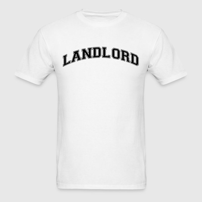 landlord college style curved logo t-shirt - Men's T-Shirt
