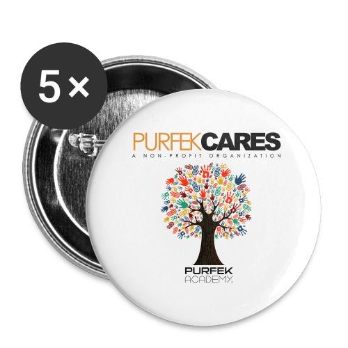 Purfek Cares Travel Mug - Buttons small 1'' (5-pack)