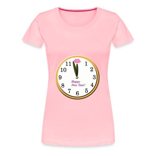 Happy New Year Clock - Women's Premium T-Shirt