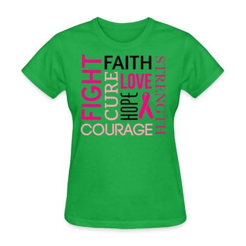 Cancer Awareness Womens T Shirt  - Women's T-Shirt