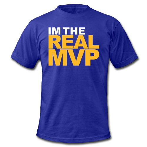 I'm The Real MVP - Purple - Men's  Jersey T-Shirt